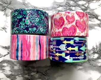 Patterned Duct Tape Hearts|Arrows|Stripes|Paisley Printed DuctTape