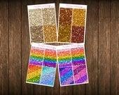Teensy Weensy Set of 4 Faux MATTE Glitter Headers Set 4 Themed Planner Stickers - Erin Condren Planner Stickers - Happy Planner
