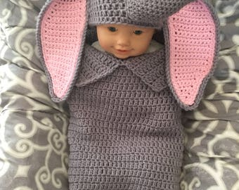 Baby dumbo cocoon and hat pattern