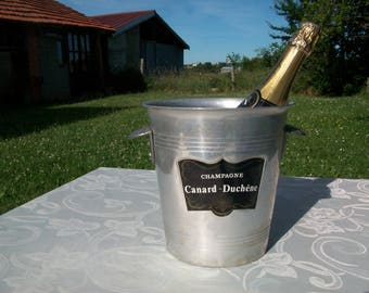 Champagne Ice Bucket//Champagne Bucket//Ice Bucket//Canard-Duchene//Wine Cooler//Champagne Cooler//Vintage French//Found And Floged