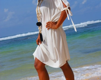Off Shoulder dress/Trendy Summer dress/Resort wear/Beach wear/Short Fashion dress * ADELE SHORT DRESS