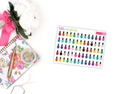 QUARTER SHEET - Nail Polish Planner Stickers for the Erin Condren Life Planner Happy Planner, Nails Sticker, Icon Sticker - [i0001]
