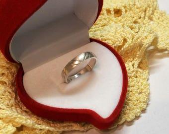 17.9 mm ring 925 Silver design matt/gloss SR507
