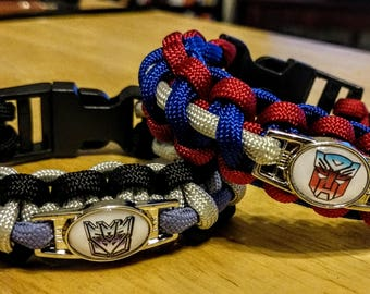 Transformers Inspired Autobot/Decepticon Paracord Bracelet
