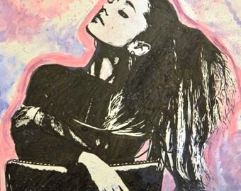Ariana Grande - Original Ink and Watercolor