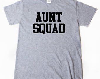 Aunt Squad T-shirt Funny Aunt Auntie Tee Shirt