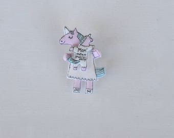 New Mom Gift, New Mom, Momma Unicorn, Unicorn Pin,Mom and Baby Unicorn, Mommy Unicorn,Mom quote, Mom Means Everything, Great Mom Quote