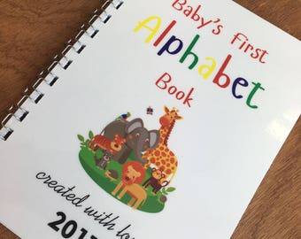 Baby's First Alphabet Book, Baby Shower Game, New Arrival Keepsake Gift