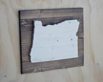 Oregon State Wood Plaque Cutout