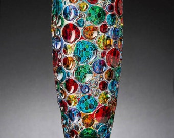 crystal Vase Bolle Chiarte