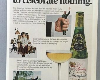 1970 Champale Malt Liquor Print Ad