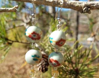 Floral Bauble Earrings