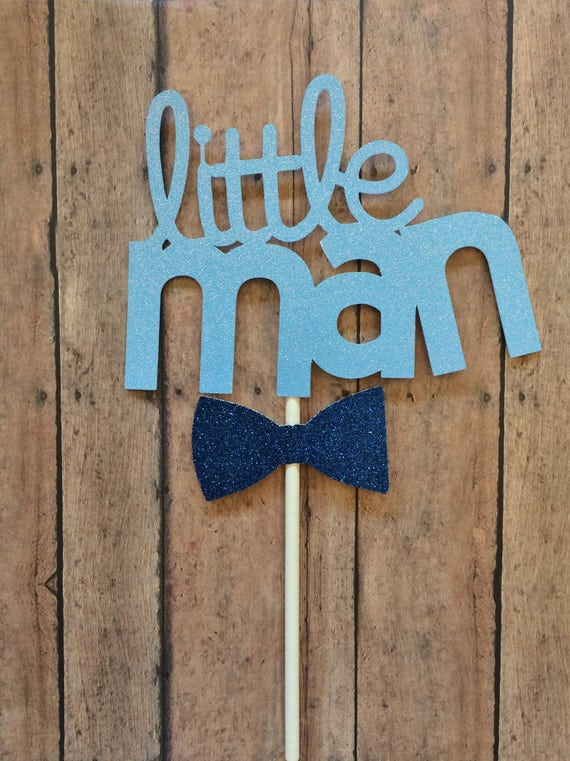 Man Cake Topper, Birthday Little Man Cake Topper,Little Man Birthday ...