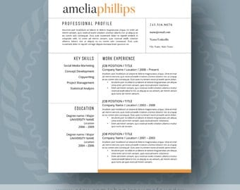 Modern Resume Template For Word, 1 3 Page Resume + Cover Letter + Reference  What Is A Cover Sheet For A Resume