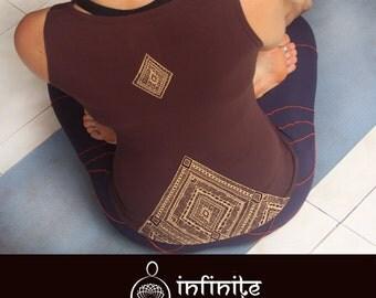 Ethnic top, brown, spiritual clothing, yoga top, yoga clothes, workout clothes, spirit shirt, workout top, yoga clothing, yoga gift