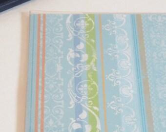 Passport Cover, Pastel Filigree Stripes, Passport  Sleeve, Case, Holder