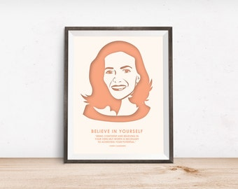 Nevertheless She Persisted - Feminist Quotes - Sheryl Sandberg - Boss Lady - Motivational Quote - Wedding Presents - Inspirational Quote