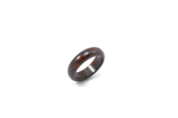Size 8 Solid jasper ring jasper ring solid red ring red