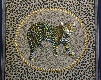 CARETA large square scarf - The Leopard - Made in Italy