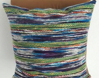 Green and blue pillow, decorative pillow, throwback pillow, blue pillow, green pillow, blue and green pillows, green pillow, blue pillow