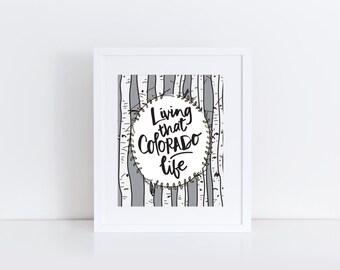 Colorado Life Print, Aspen Trees Wall Art