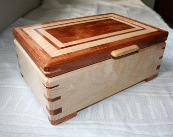 Wood Jewelry Box, Wooden Jewelry Box, Keepsake box, Jewelry Storage box,1SKB