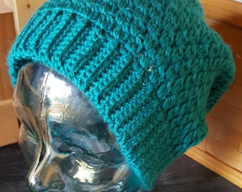 Adult Teal Baggy Beanie Hat