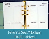 Printed Personal Size planner inserts | Week on two pages WO2P | EC width boxes | weekly planner refill | for medium kikki k filofax etc