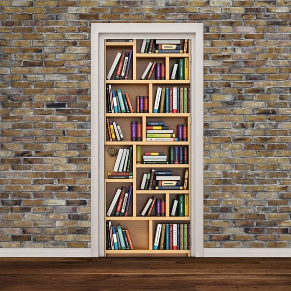 Bookshelf Door Wall Decal by Decorelo
