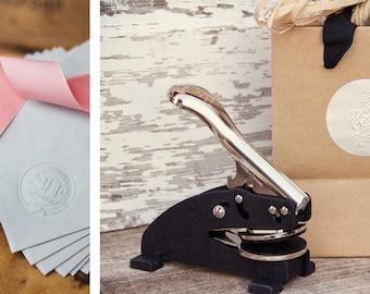 Custom Embossing Stamp - Personalized Embosser - Wedding Embosser Gift - Wedding Embosser - Custom Embosser - Embossing Stamp Gift Set