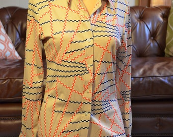 60's/70's Polyester Buttondown Blouse