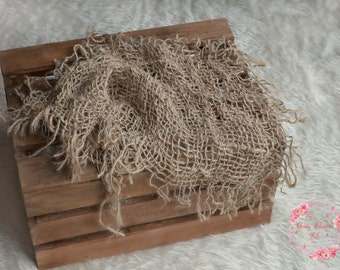 Chunky burlap layer net,hessian,rustic jute net layer,open weave,natural basket stuffer,neutral wrap,blanket,newborn,sitter photo prop