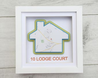 Personalised New Home Gift, First Home Gift Frame, House Warming Gift, Framed Welcome Home, Home Gift, New House Gift, Unique New Home Gift