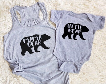 mama bear baby bear little bear matching mommy and me shirts mother daughter shirts mother son shirt matching family tank tops