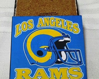 Los Angeles Rams Ceramic Tile Drink Coasters / Rams Coaster Set / Set of 4