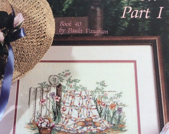 Paula Vaughan Spring Remembered Part I Book 40 Color Counted Cross Stitch Chart  Leisure Arts Leaflet 2047, 1991