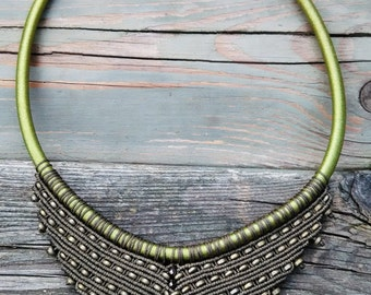 MACRAME NECKLACE '