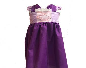 Rapunzel Inspired Girls, Toddler, Infant, and Baby Play Dress