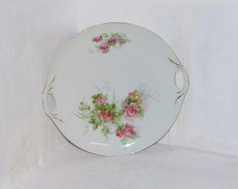 Antique Rose Platter Fine China - 1061