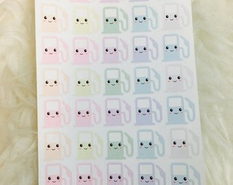 Kawaii Gas Pump Rainbow Pastel Planner Stickers | Erin Condren & Plum Paper Planner