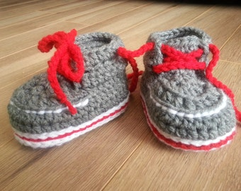 "Slippers baby booties - ""Forrester Boots"" crochet cute bootie slipper boots Inventorium boss"