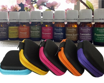 Essential Oil Carrying Case Mini Pouch New holds (2) 5-ml Bottles Protect the Oils you carry daily in your purse very handy multi use case