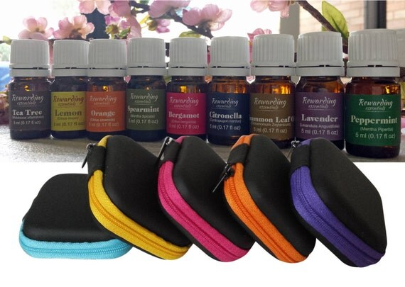 Essential Oil Carrying Case Mini Pouch  very handy multi use case Qty 25 - 5ea Color