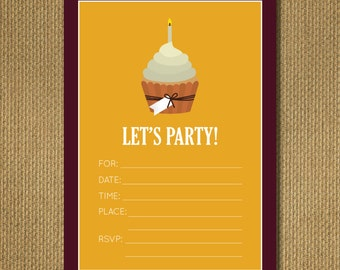 PRINTABLE |  Cupcake Birthday Invitation