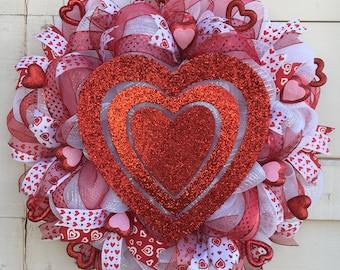 Valentine wreath,Valentine's Day wreath,Valentines decor,Heart wreath,Valentines heart wreath,