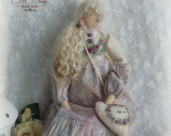 AMELY Tilda doll Interior doll Gift to mom Textile doll Mothers Day  Mom's birthday Art doll Fabric doll Doll with embroidery Sweet doll