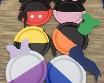 Mickey Mouse Clubhouse Party Package/Mickey Mouse plates/Mickey Clubhouse Party/Mickey plates/Mickey birthday plates/party decoration/favor