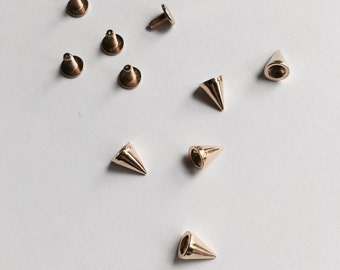 Punk Stud Spike Jewelry Supply Gold Punk Spikes
