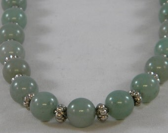 Light Green Aventurine Beaded Necklace