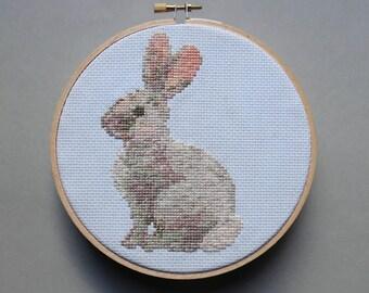 Portrait of a Rabbit - Cross Stitch Pattern PDF
